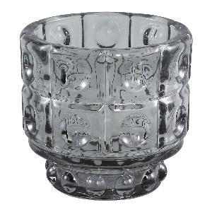 PTMD Lauren grey cool glass theelicht