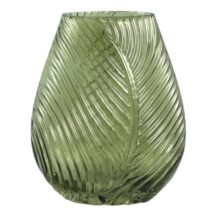 Ptmd vaas botanisch blad vorm glas groen