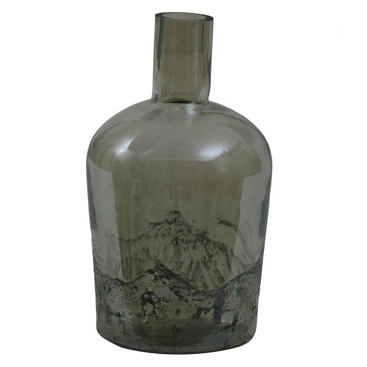 Ptmd flesvormige vaas groen klein