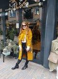Knit Factory 'Gebreid Vest Sol' MAAT 36/38 'Oker'