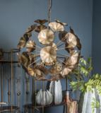 Marthe Gold hanglamp metaal bloemen rond ptmd