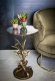 Bryz Gold bijzettafel met glas en metaal blad ptmd