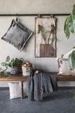 Knit Factory ' Kussen DAX ' ' Beige ' 50 x 50 cm_