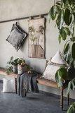 Knit Factory ' Kussen DAX ' ' Beige ' 60 x 40 cm_