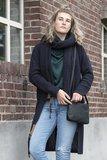 Knit Factory 'Gebreid Vest Luna' MAAT 40/42 'Navy '_