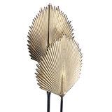 PTMD ' Regan Gold metal floor lamp leaf high ' _