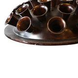 PTMD ' Nadine koper oxidise ijzeren vaas laag rond' _