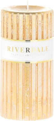 Riverdale Kaars Venetian Goud 7x14cm