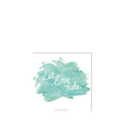 Riverdale Servet let love rule celadon 33cm