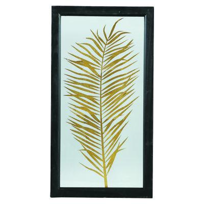 PTMD fenix gold glass wood box palm print rectangle 2