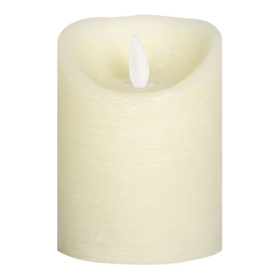 PTMD LED light candle Rustic cream moveable flame 10x8
