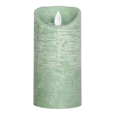 PTMD LED light candle Rustic green moveable flame M