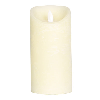 PTMD LED light candle Rustic cream moveable flame M