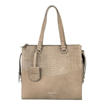 Burkely 'Croco Cody Handbag M' 'Light Grey'