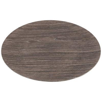 PTMD Onderbord Wood Grijs Rond