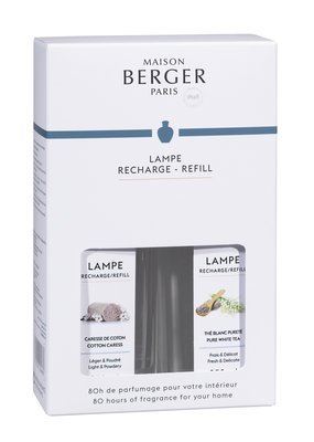 Lampe Berger 'Duopack' Pure White Tea & Cotton Carres ( Purs The Blanc & Caresse Cotton )