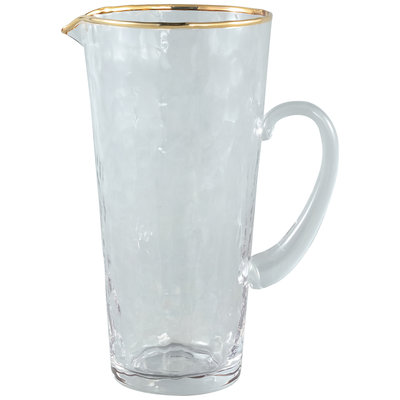 PTMD 'Mylene' Water Karaf / Gold Border Water Pitcher