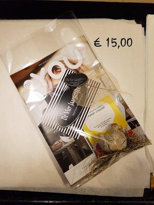 Cadeaubon t.w.v ( € 15,00 )
