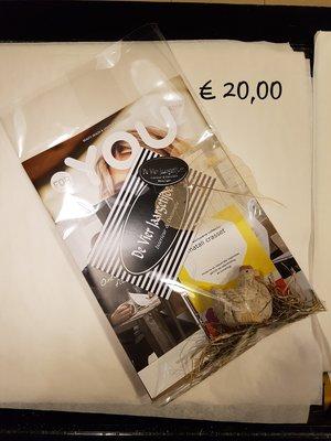 Cadeaubon t.w.v ( € 20,00 )