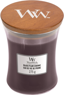 Woodwick 'Black Plum Cognac' Medium