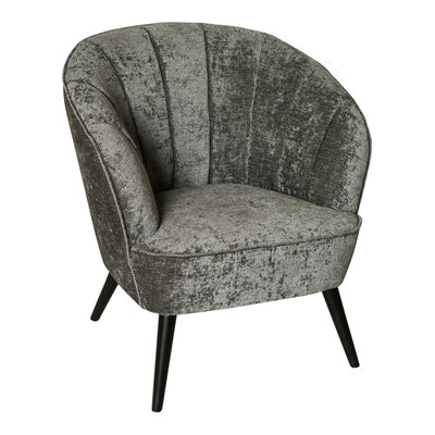 PTMD Hanna Luxury Grey Velvet Chair