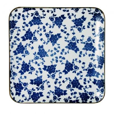 Riverdale bord vierkant Floral blue  26 cm