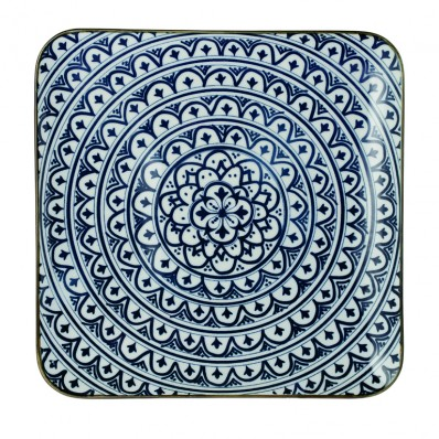 Riverdale bord vierkant Bloom blue 26 cm