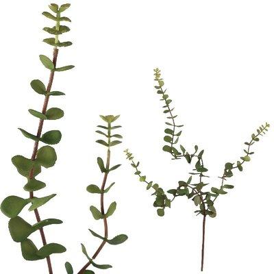 PTMD Kunstplant groen hangende blaadjes