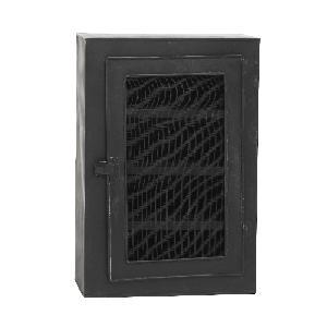 PTMD Wynn black Iron wall cabinet one door
