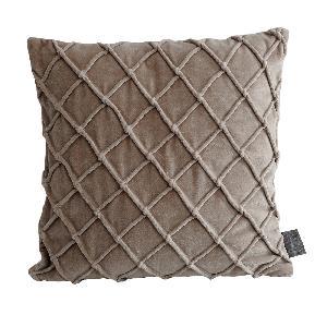 ptmd Bing beige velvet cushion & fill vierkant