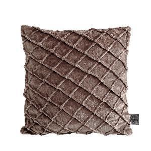 ptmd Bing brown velvet cushion & fill  vierkant