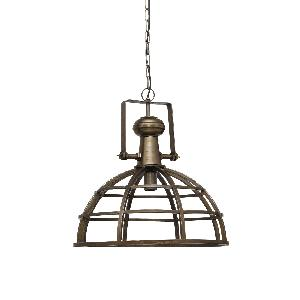 ptmd Denver brass Iron hanging lamp industrial round