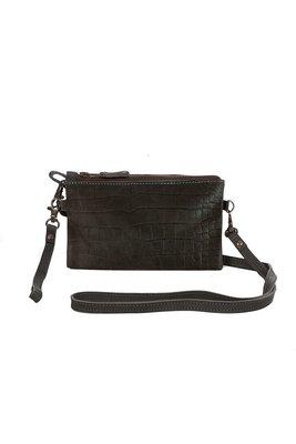 Chabo luca bag wallet Croco black tas