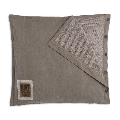 Knit Factory Rick Kussen Beige/Marron