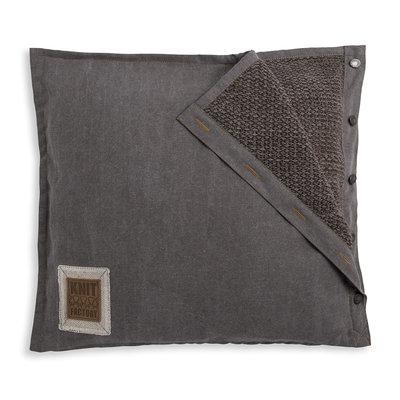 Knit Factory Rick Kussen Bruin/Taupe