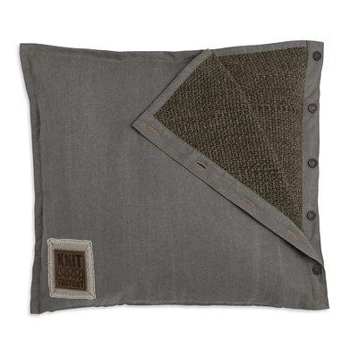 Knit Factory Rick Kussen Groen/Olive
