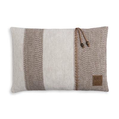 Knit Factory Roxx Kussen Beige/Marron (60 x 40 cm)