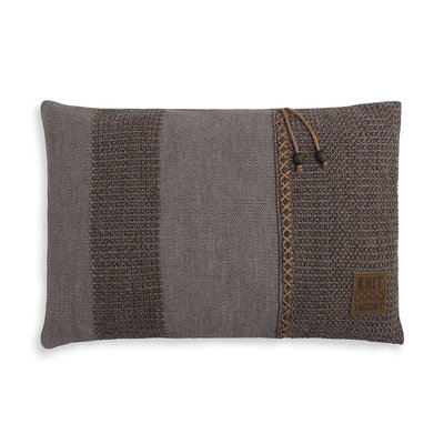 Knit Factory Roxx Kussen Bruin/Taupe (60 x 40 cm)