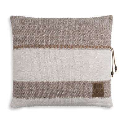 Knit Factory Roxx Kussen Beige/Marron (50 x 50 cm)