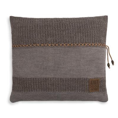 Knit Factory Roxx Kussen Bruin/Taupe (50 x 50 cm)
