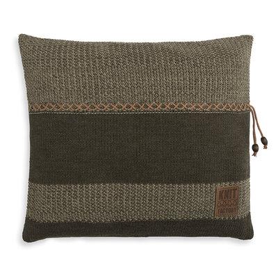 Knit Factory Roxx Kussen Groen/Olive (50 x 50 cm)
