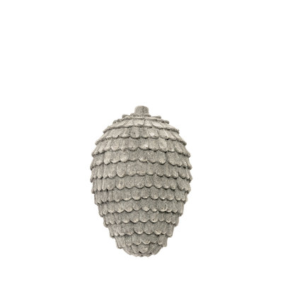 Riverdale Dennenappel Jolly grijs 15cm