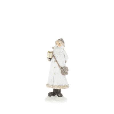 Kerstman Present wit 11 cm