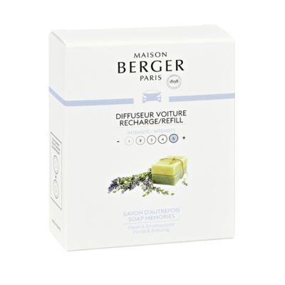 Lampe Berger autoparfum navulling 2 stuks soap memories