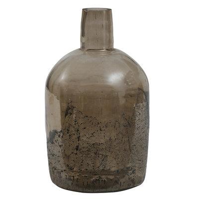 Ptmd flesvormige vaas bruin groot