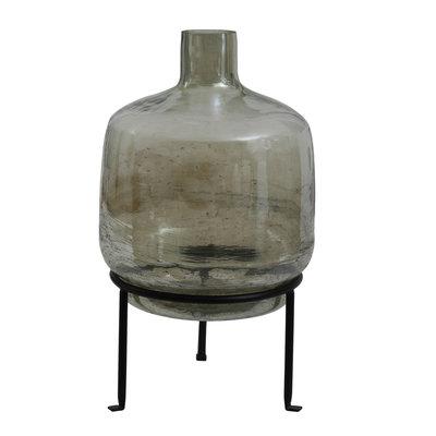 Ptmd flesvormige vaas groen op standaard klein