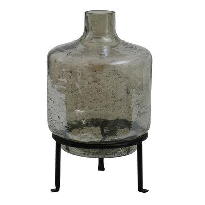 Ptmd flesvormige vaas groen op standaard groot