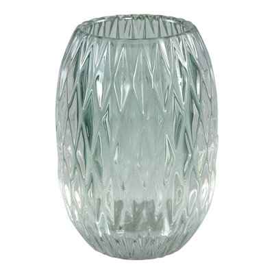 Ptmd waxinelicht diamant vorm glass groen