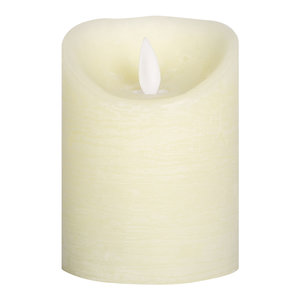 PTMD LED light candle Rustic cream moveable flame 10x8 S