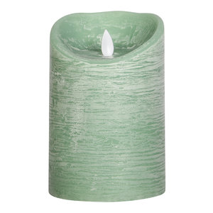 PTMD LED light candle Rustic green moveable flame L